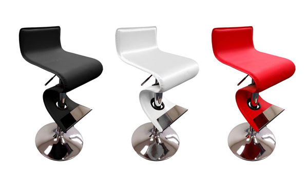 gaylord modern style leather bar stool